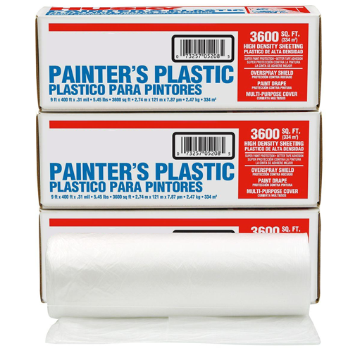 Plastic Dropcloths for Wood Window Projects